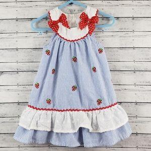 Nannette Baby Girl Sack Strawberry Dress Sz 18M